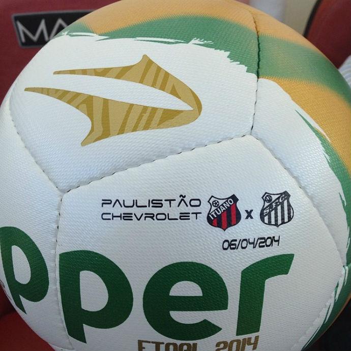af15448fb9 Bola da final do Paulistão terá escudos dos finalistas  confira ...