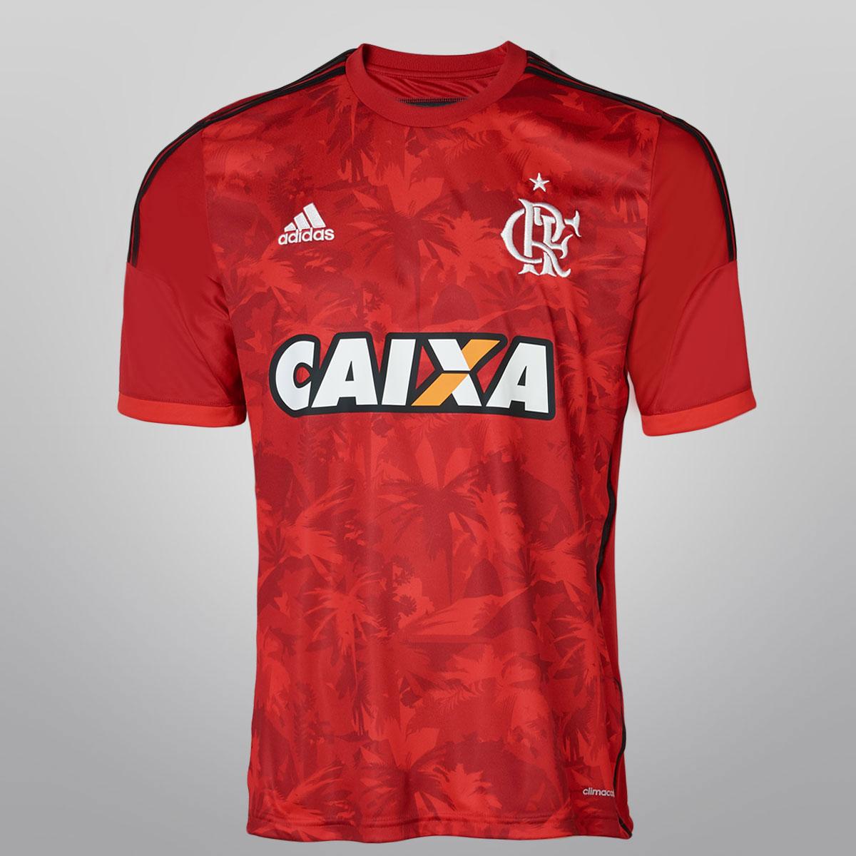 b4fd12d413 Sem a presença de jogadores, o Flamengo lançou nesta quinta-feira, na  Gávea, sua nova terceira camisa. O uniforme, que tem o vermelho como cor  predominante, ...