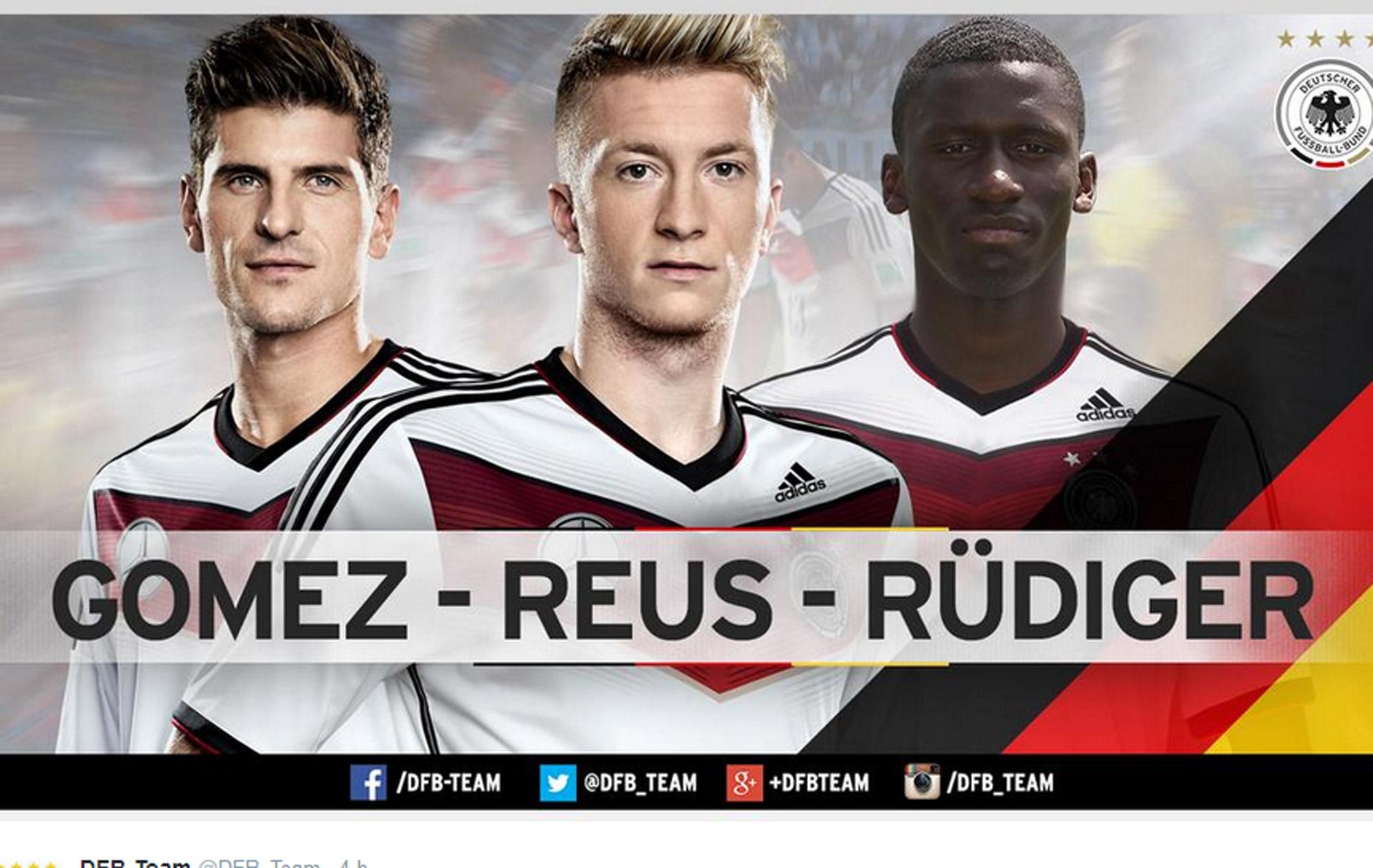 Alemanha faz primeira convocação após tetra com Reus e Mario Gómez ... 6dec7ac07c471
