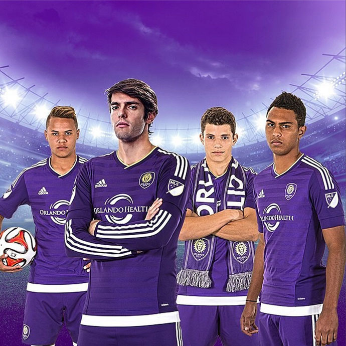 Orlando City divulga camisa para estreia na MLS em 2015 com Kaká ... 4bc105bbd70a8
