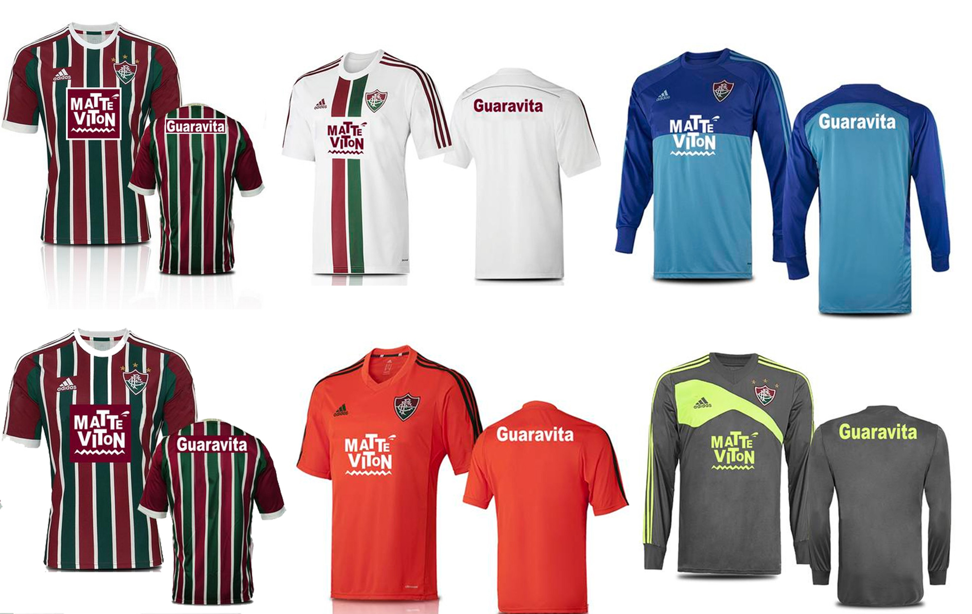 Fluminense divulga uniformes com a marca do novo patrocinador master ... 5199cc2c9adba