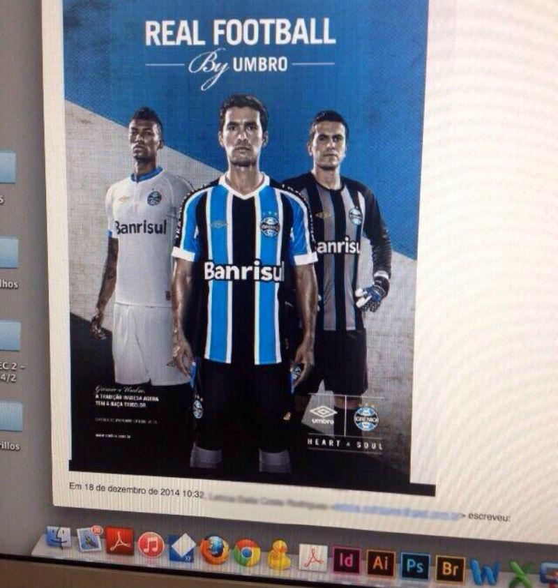 Vaza na internet suposta nova camisa do Grêmio que será lançada nesta 5ª 07304ce4ea2d9