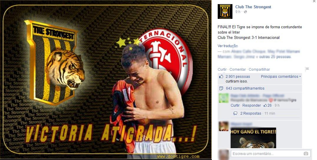 ab10fb438f139 Derrota do Inter gera cornetas na web