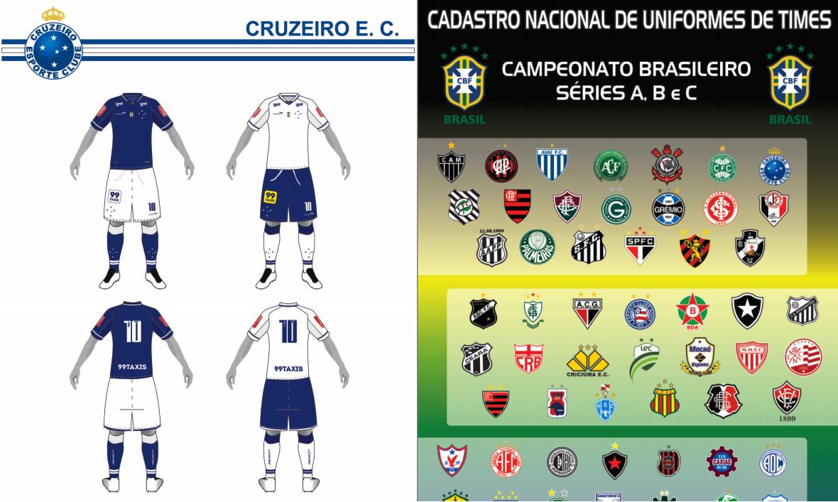 CBF divulga catálogo com todos uniformes das Séries A c720fae2c7b79