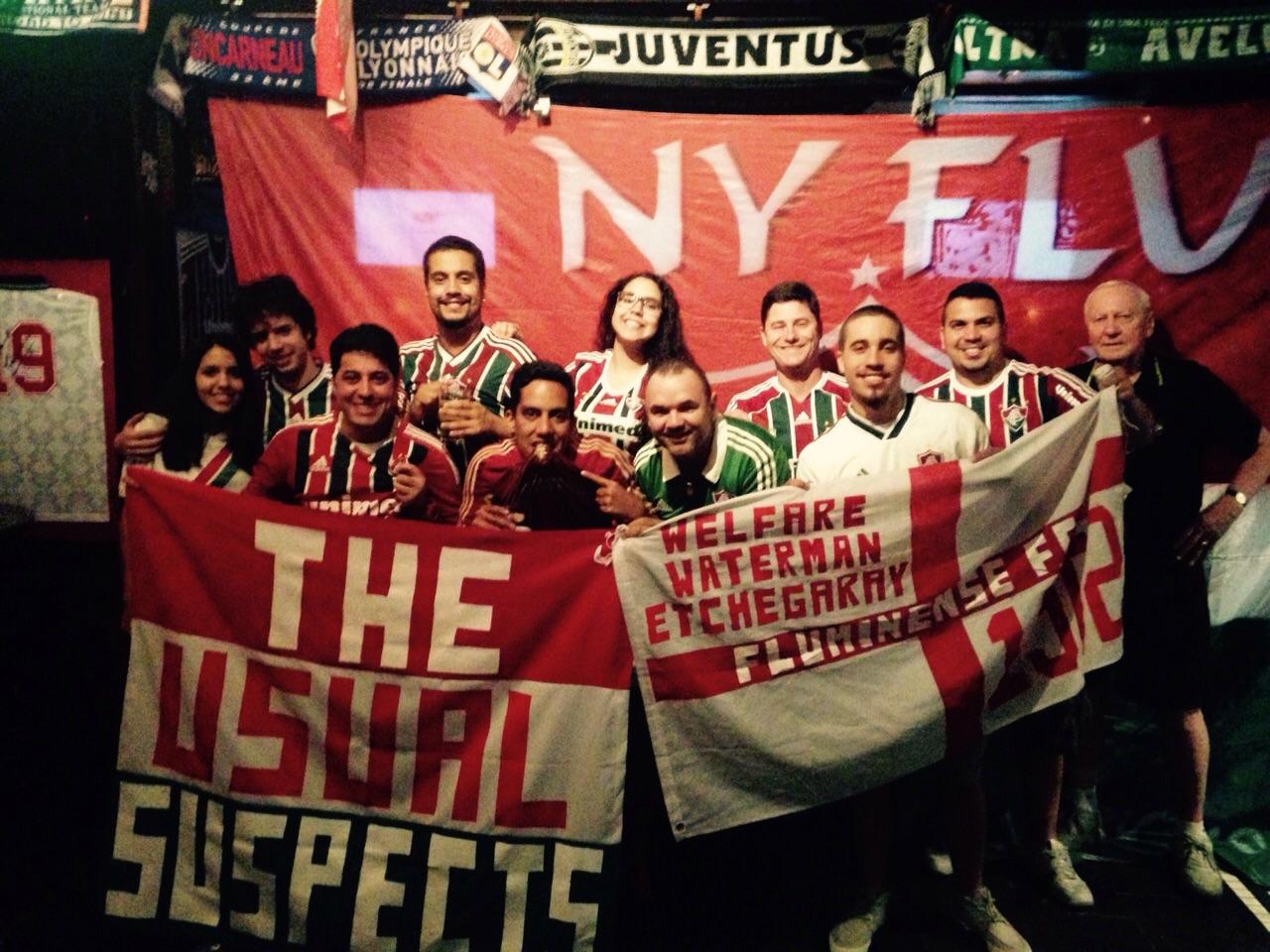 Tricolores se reúnem em Nova York e formam torcida para assistir partidas c5e348185f56c