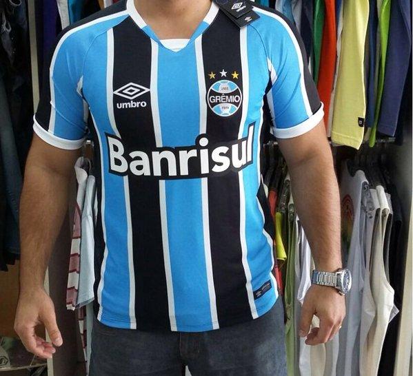 Vaza na web suposta nova camisa do Grêmio que será lançada em amistoso 12043ec9836af