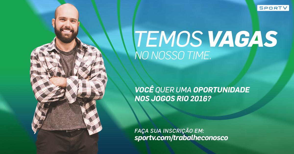 42b14297b3 Globosat realiza processo seletivo para os Jogos Olímpicos do Rio