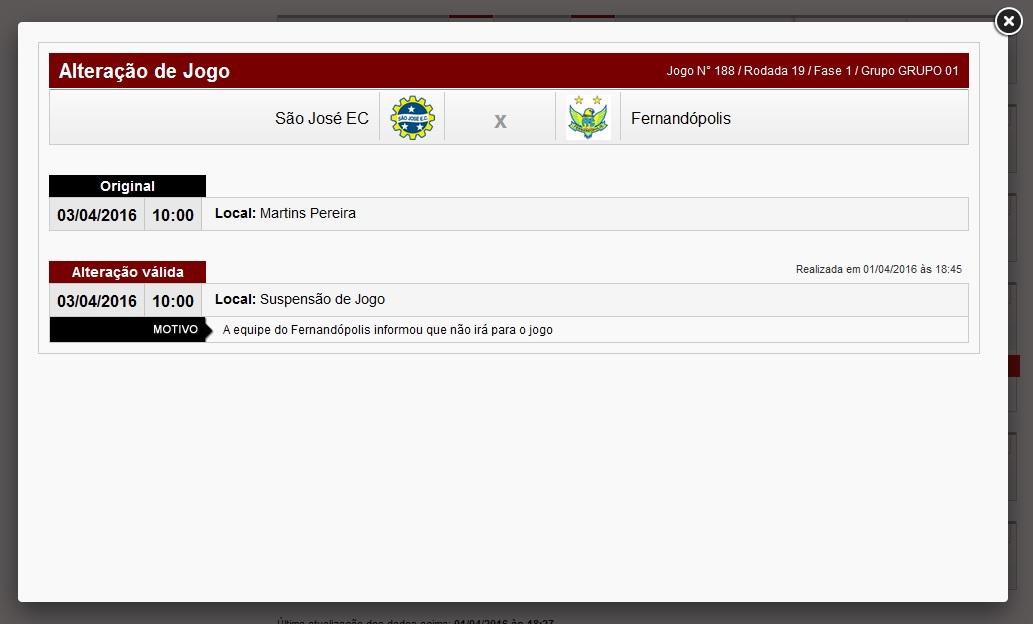 a5cc8de012a Fernandópolis desiste de jogo da A3