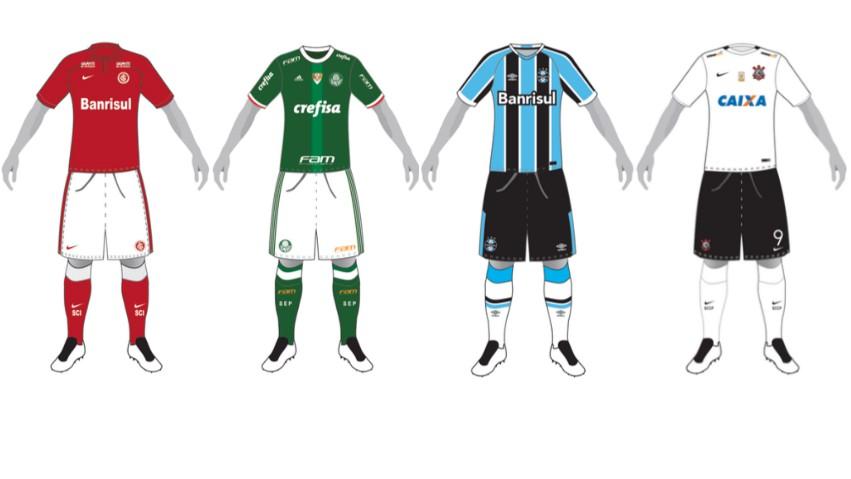 8525b687211b0 CBF divulga catálogo com uniformes de todos os clubes das Séries A ...