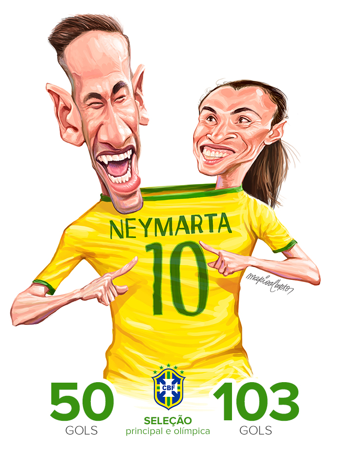 dbbb00d24b7a6 Neymar e Marta  ouro inédito passa pelos pés dos herdeiros de Pelé