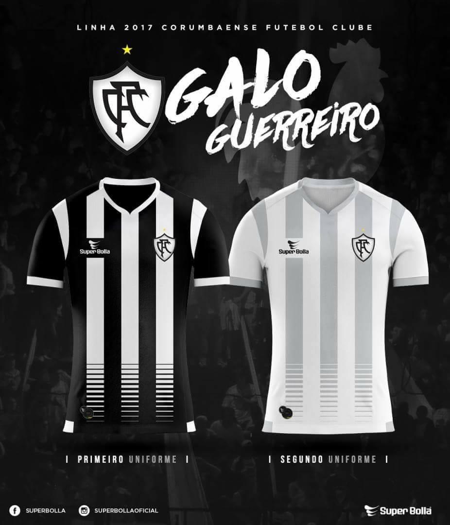 1c792dfa57 Corumbaense aposta nas listras em uniformes para a temporada 2017