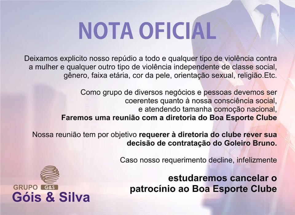 f7c48a8bb6 Maior patrocinador ameaça romper se Boa Esporte não desistir de Bruno