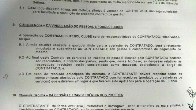 Blog Revela Contrato Entre A Lacerda Sports E Comercial Fc