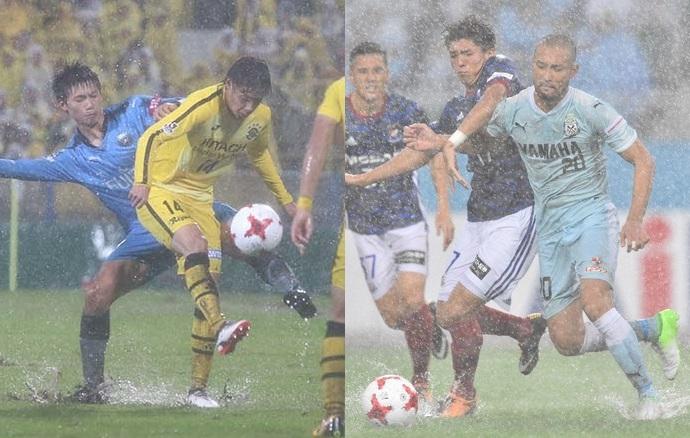 Por que a J-League não adia os jogos mesmo com campos alagados ... c96f5ca9de01f
