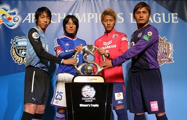 b478c7f38b Os quatro representantes japoneses e o troféu da ACL   J.League Photos