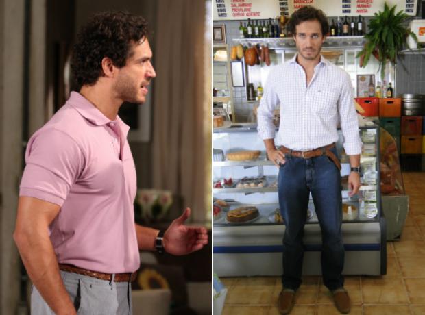 2494055417 Figurino Guaracy (Foto  Fina Estampa TV Globo) Figurino esportivo de  Guaracy inclui camisas polo e combinação de camisas sociais com calça jeans