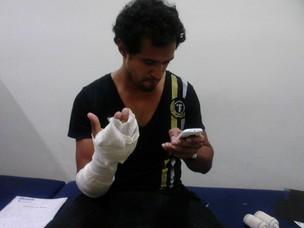 Fábio Bianchini foi atendido no hospital Lourenço Jorge, na Barra da Tijuca, Zona Oeste do Rio (Foto: Graça Paes/ Divulgação)