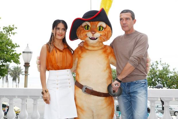 Salma Hayek e Antonio Banderas (Foto: Marcos Serra Lima/EGO)