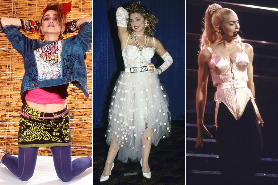 6fb7527398 Desde o início da carreira, Madonna experimentou com o estilo: looks  coloridos, vestido