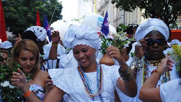 Lavagem do Bonfim (Foto: Lílian Marques/G1)