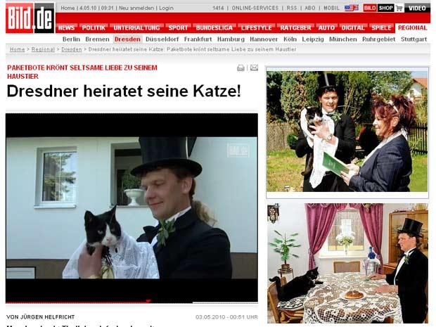 Uwe Mitzscherlich  celebra união com a gata Cecília