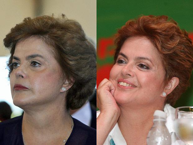 Dilma Rousseff exibe dois penteados nesta sexta-feira (14). O  primeiro compromisso foi uma missa de encerramento da encontro da CNBB  em Brasília. À tarde, Dilma participou do Encontro Nacional de Negros e  Negras do PT, no Centro de Eventos Brasil 21.