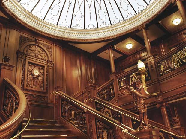 Escadaria do navio também foi reproduzida