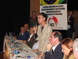 Marina Silva em plenária da UGT