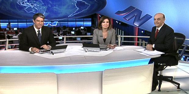 José Serra é entrevistado no JN (José Serra é entrevistado no JN (José Serra é entrevistado no JN (Rede Globo)))