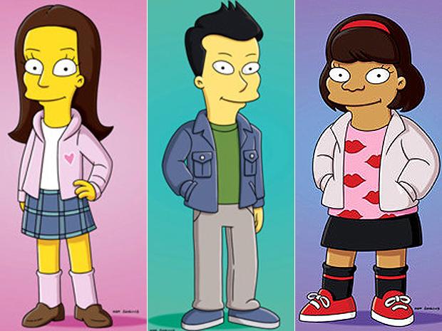 Os atores Cory Monteith, Lea Michele e Amber Riley, em versão 'amarela e sem queixo'