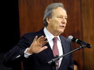 Presidente do Tribunal Superior Eleitoral (TSE), Ricardo Lewandowski, durante evento sobre o sistema eleitoral brasileiro, nesta segunda-feira (04).