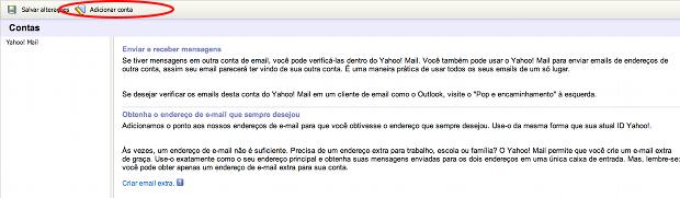 96cad2155 G1 - Saiba configurar o seu Yahoo! Mail para receber e-mails de ...