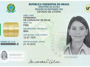 Nova carteira de identidade nacional (Foto: Divulgação/Governo do Rio)