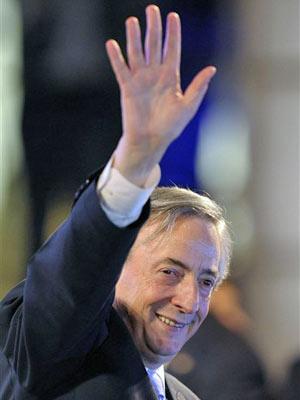 Néstor Kirchner, em foto de maio deste ano