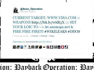 Grupo convoca ataque pelo Twitter.
