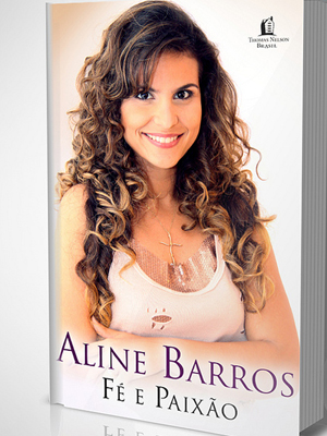 A capa da biografia de Aline Barros