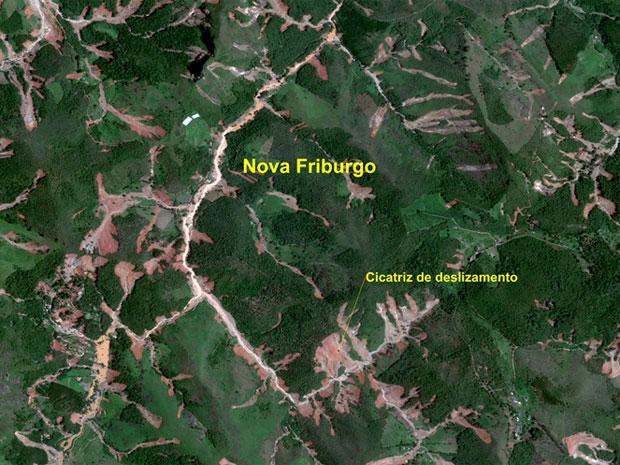As Vezes é Preferível Ter Paz Do Que Rita Ramos Cordeiro: Imagens De Satélite De Nova Friburgo