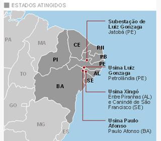 mapa apagão (Foto: Arte/G1)