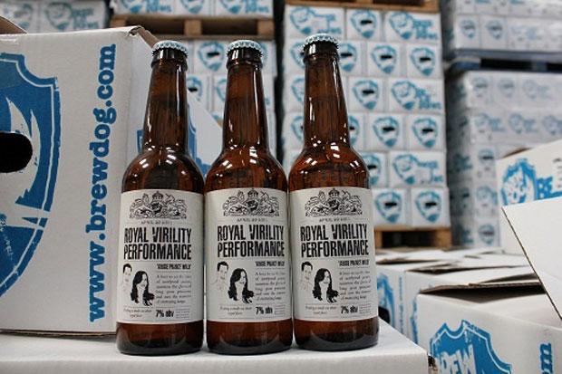 Cervejaria mandou algumas garrafas da 'Royal Virility Performance' para o príncipe William. Mil unidades estão à venda no site da empresa