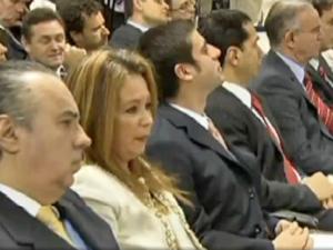 Promotora Deborah Guerner durante audiência no DF (Foto: Reprodução Tv Globo)
