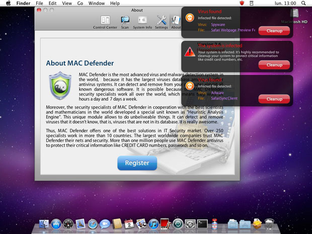 Intego is the software that discovered the most recent Mac malware attacker