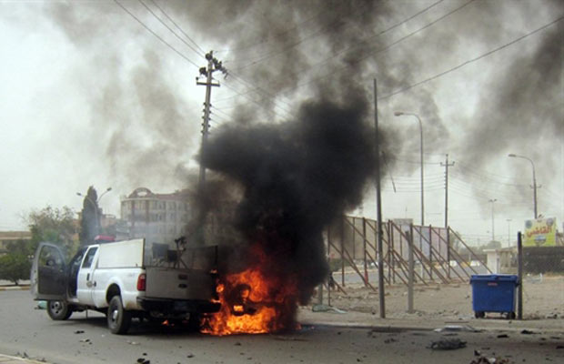 Carro Em Chamas Após Explosão Nesta Quinta-feira (19) Na