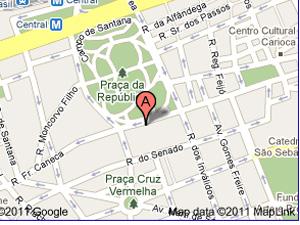 Mapa QG bombeiros Rio (Foto: Reprodução)