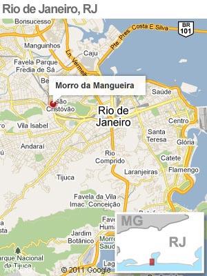 Veja onde fica o Morro da Mangueira (Foto: Editoria de Arte/G1)