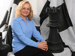A professora Janice Corrêa Prestes desenvolveu projeto para o uso do xadrez como forma e combate ao bullying (Foto: Arquivo pessoal)