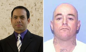 Raisuddin Bhuiyan, a vítima (à esq.) e Mark Anthony Stroman, o condenado (Foto: BBC)
