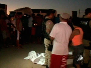 Jovens são assassinados em avenida de Feira de Santana (Foto: Reprodução/TVBA)