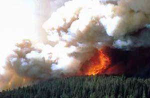 Fogo em Yellowstone em 1988. (Foto: NPS/Divulgação)