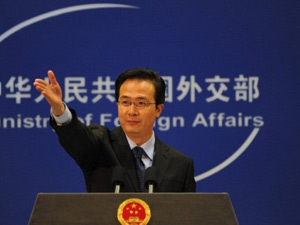 Hong Lei, porta-voz do Ministério de Relações Exteriores da China. (Foto: AFP)