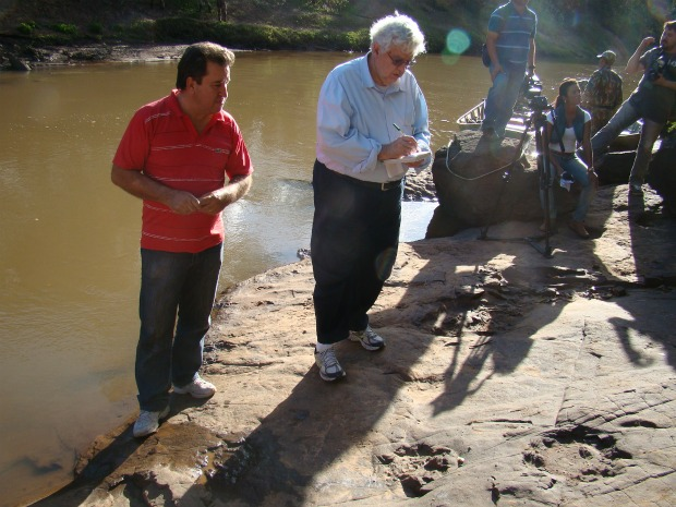 Paleontólogo visita Nioaque (Foto: Divulgação/DNPM)